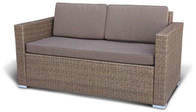 купить диван из искуственного ротанга S52b W56 Light Brown в